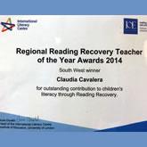 Reading Recovery Teacher Award